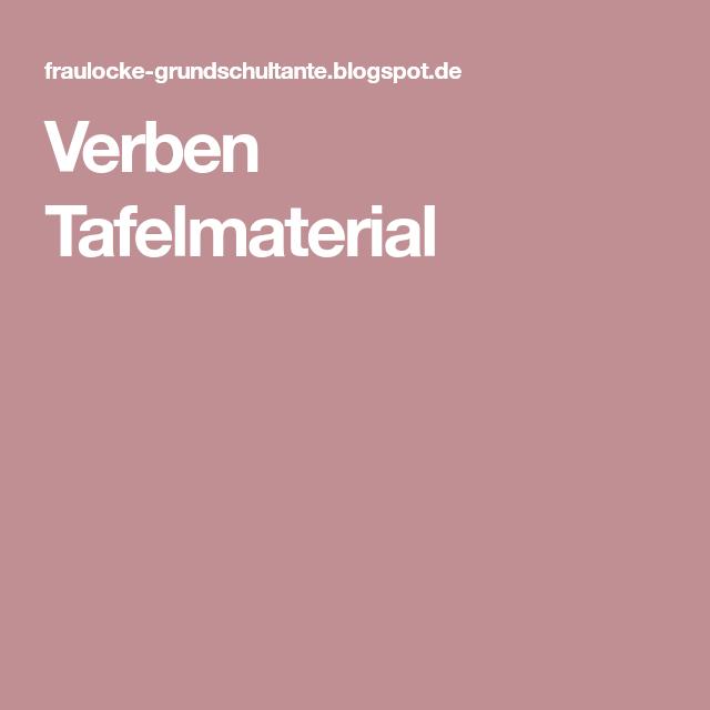 Verben Tafelmaterial | Deutsch | Pinterest | Montessori
