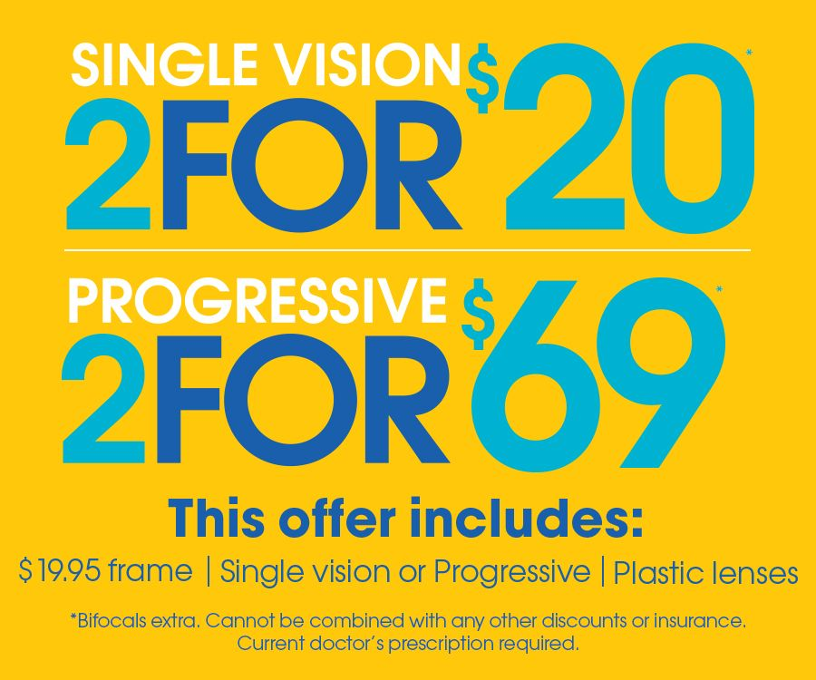 2 20 Single Vision Some Restrictions Apply Price Includes