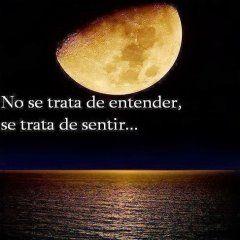 Foto Con Mensaje Romantico Luna Llena