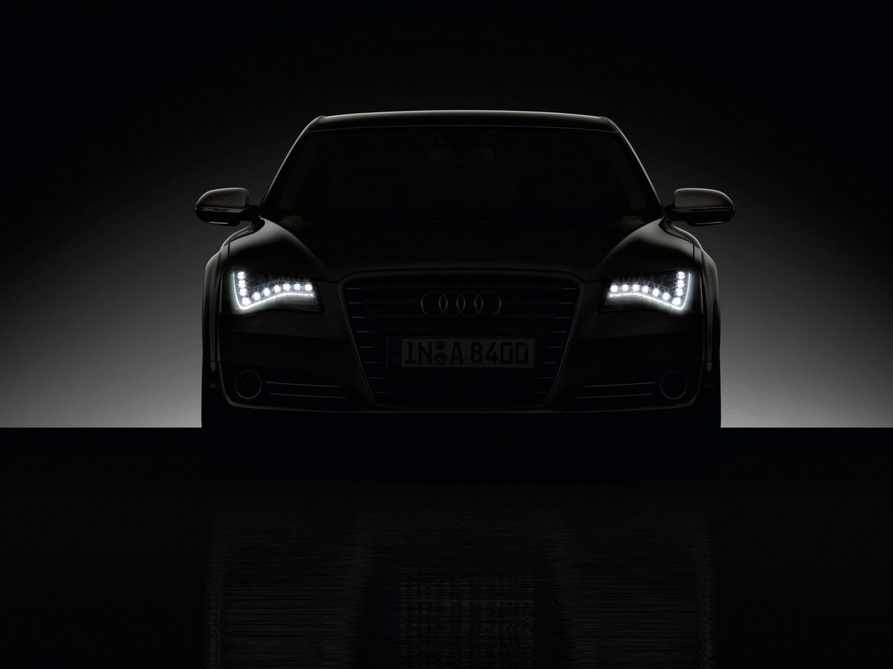 Audi A8 At Night Easily Recognizable By The Signature Led