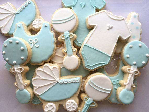 Boy Baby Shower Cookies By Twocrazycookies On Etsy Baby Shower