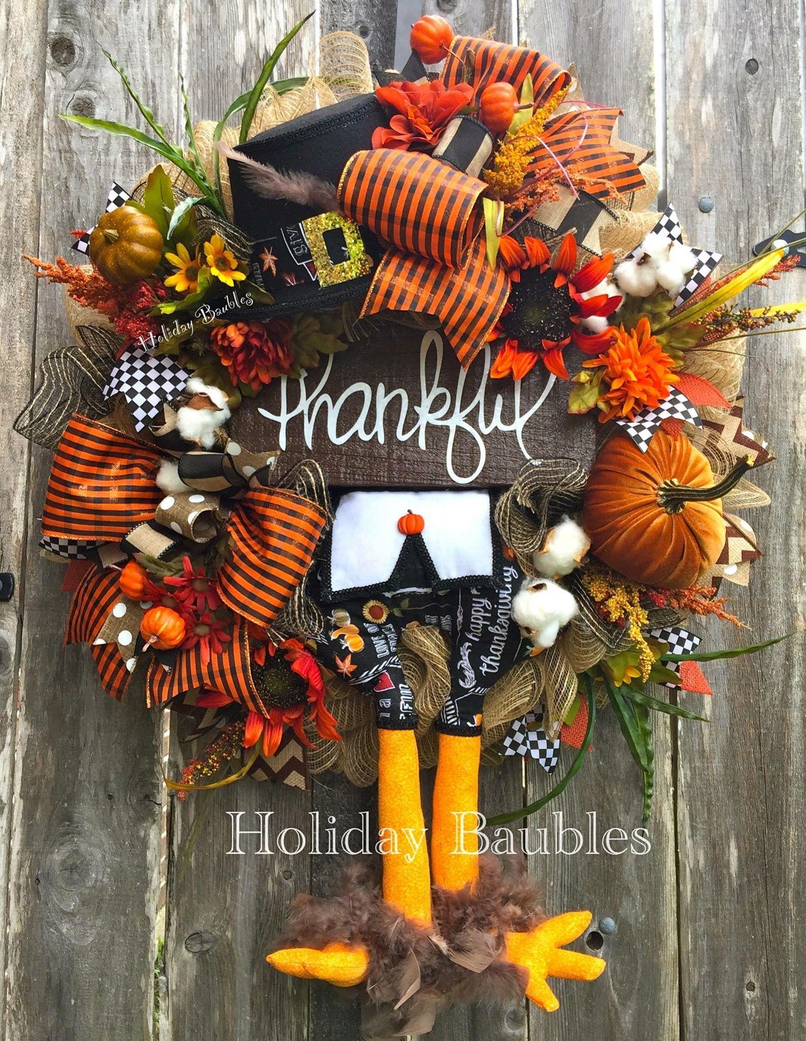 Decorating Ideas Thankful Turkey by Holiday