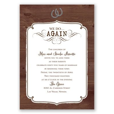 These vow renewal ideas will inspire you and your partner to claim – Renewal of Vows Invitation Cards