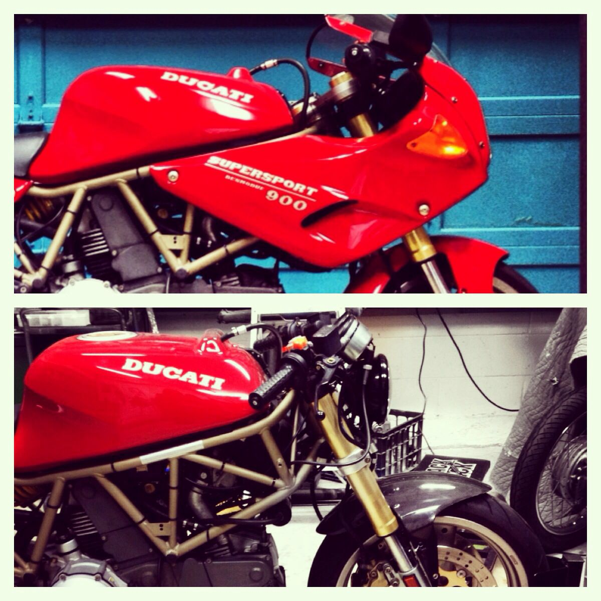 Comparison Of The Front End Conversion Cafe Racer Ducati Super
