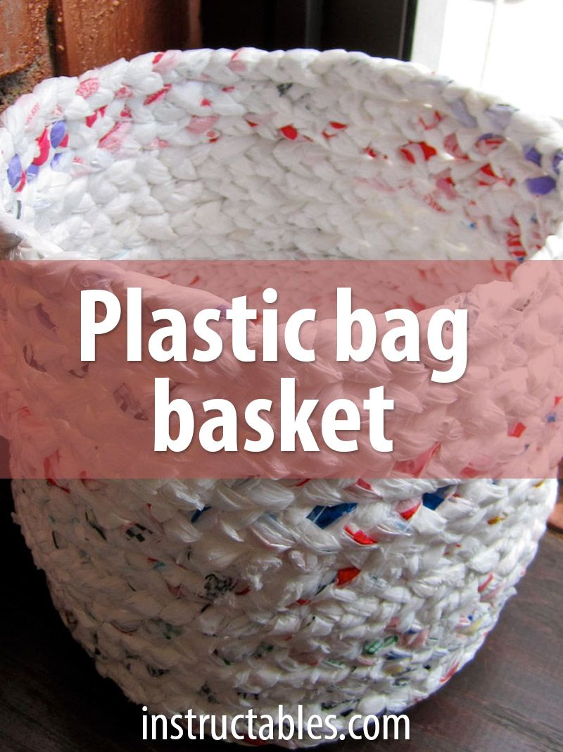 Make a Basket Out of Plastic Bags #recycledcrafts