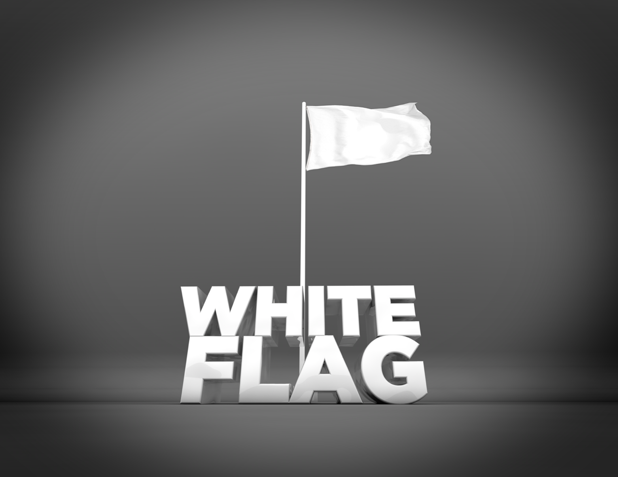 White Flag Worship Is About Surrender White Flag Letter Photography Surrender