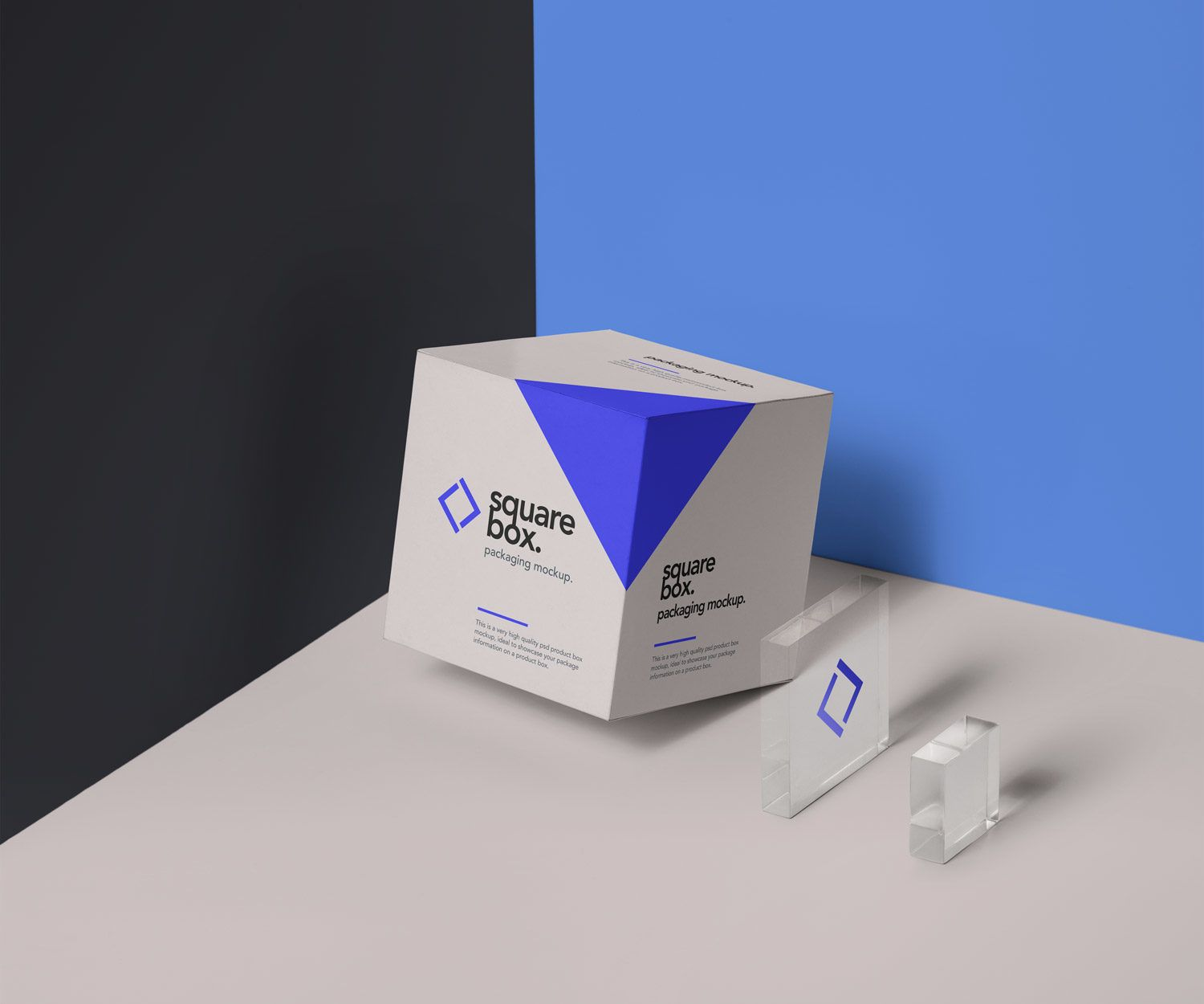 Square Box Packaging Psd Mockup Box Mockup Business Card Mock