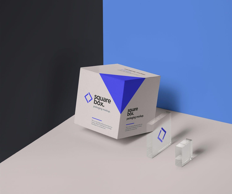 Download Square Box Packaging Psd Mockup Free Mockup Box Mockup Free Packaging Mockup Free Business Card Mockup