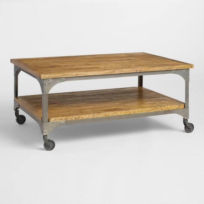 Wood And Metal Aiden Coffee Table V1 With Images Coffee