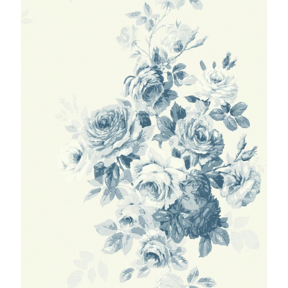 Magnolia Home by Joanna Gaines Tea Rose Paper Strippable Wallpaper (Covers 56 sq. ft.)-ME1531 - The Home Depot