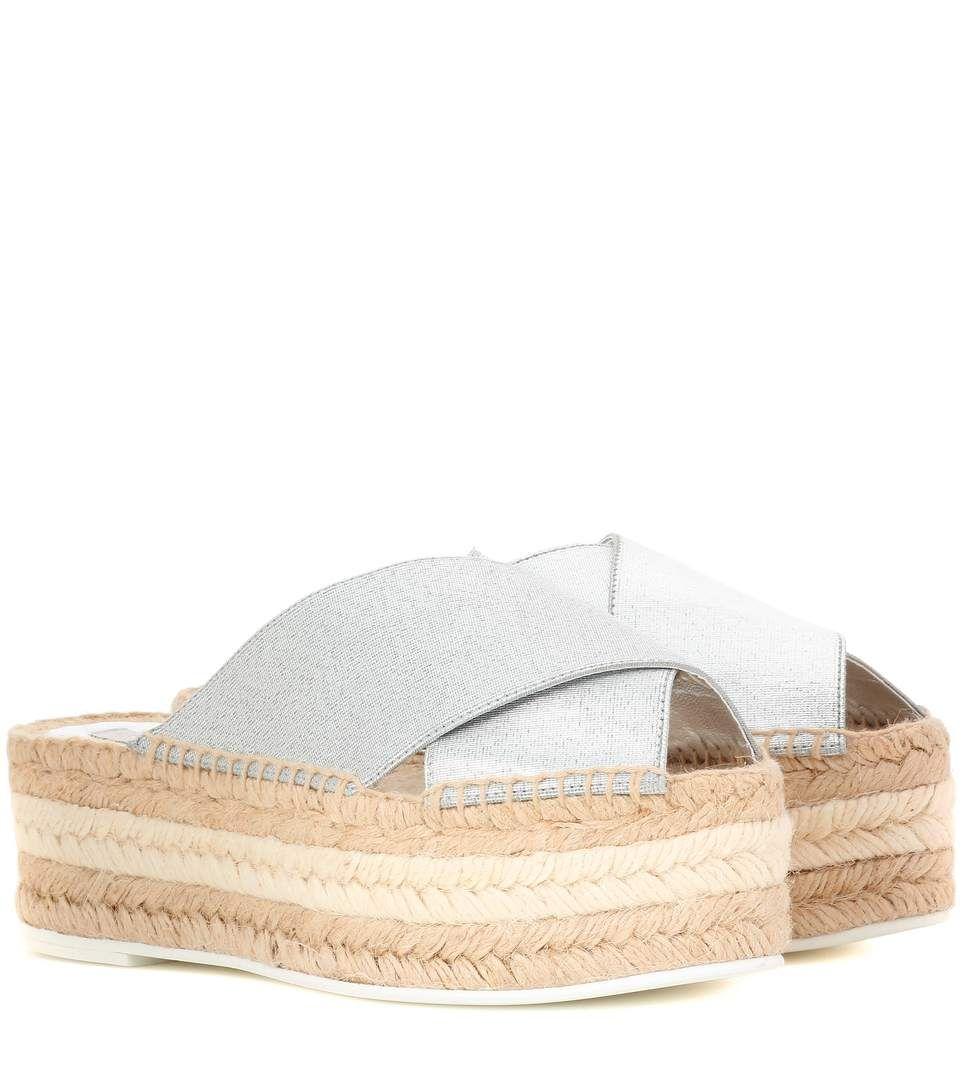 bf2907f0a3ec STELLA MCCARTNEY Sandal With Espadrilles Platform.  stellamccartney  shoes   flatforms