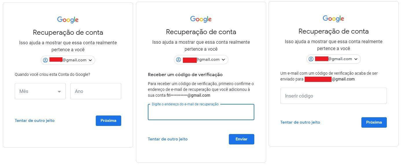 Como recuperar conta do Gmail? Senhas salvas, Descobrir