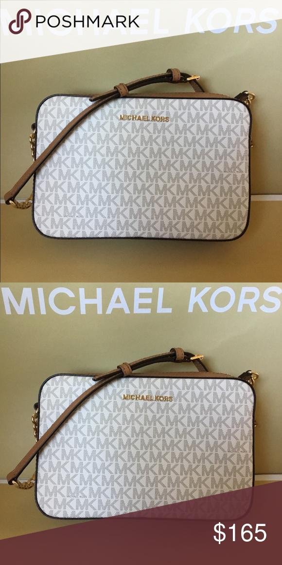 b4f03d1e9728 🌿Michael Kors Large Crossbody Shoulder Bag NWT. ✅ Michael Kors Signature  Brown PVC and