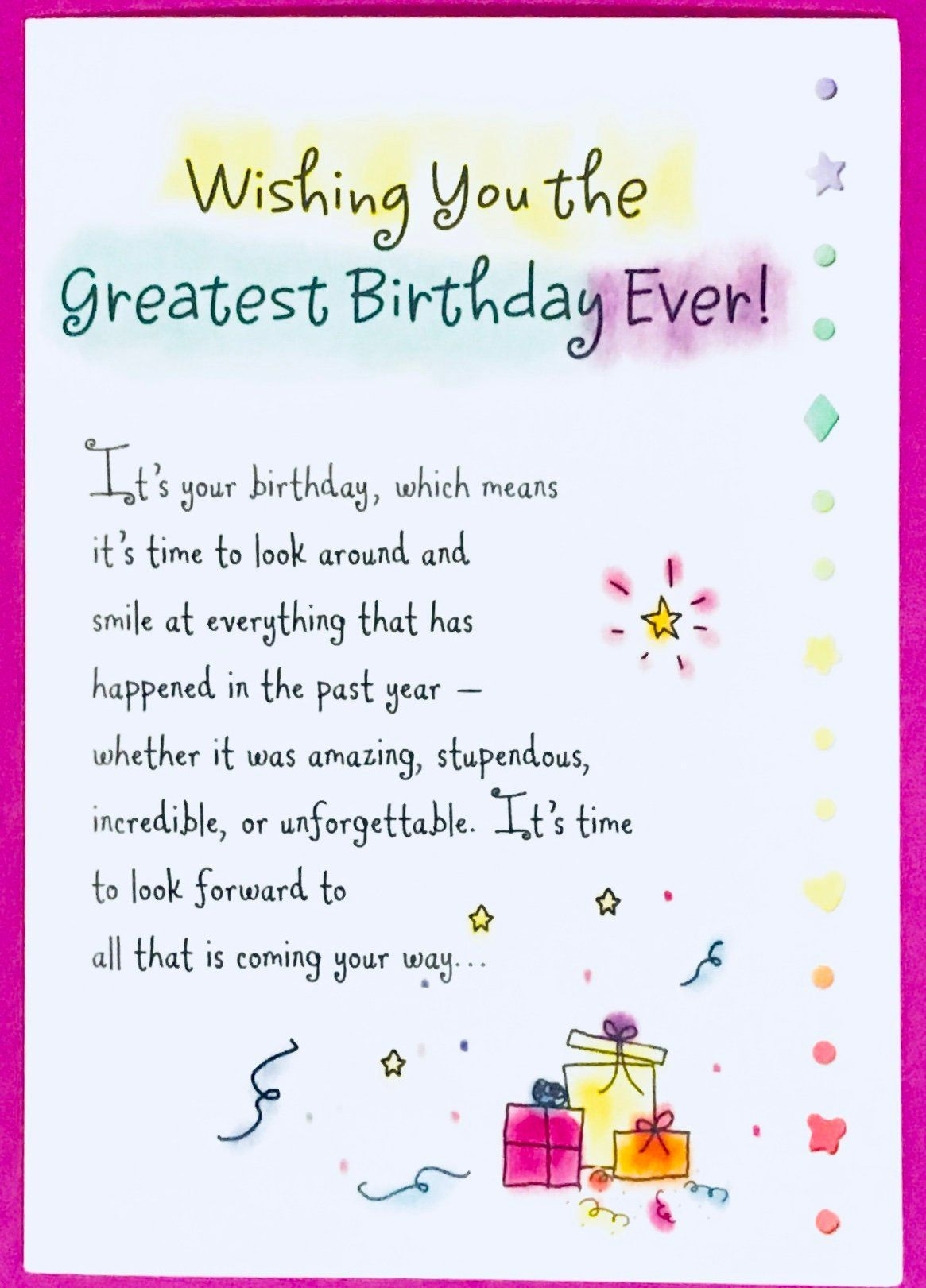Wishing You The Greatest Birthday Card Greeting Card Bday Gift Special Happy Birthday Quotes For Friends Happy Birthday Wishes Cards Friend Birthday Quotes