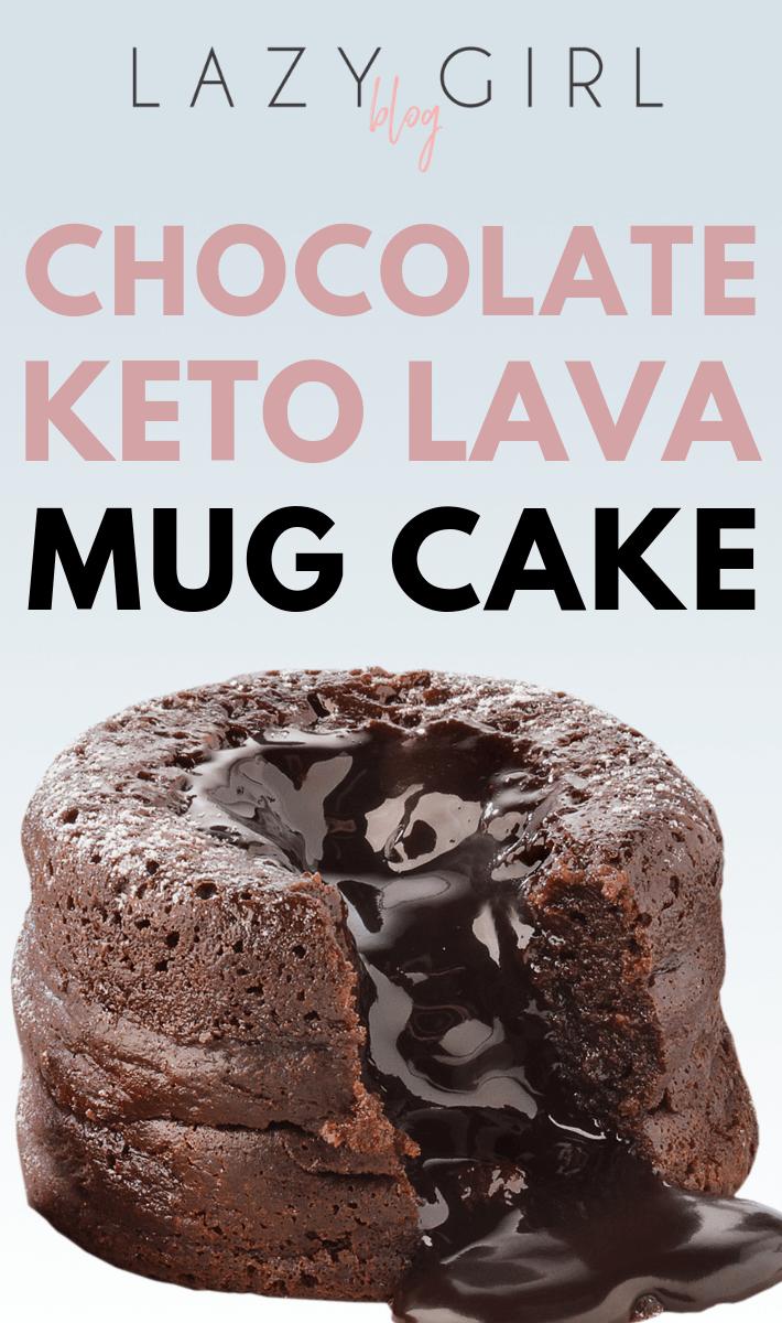 Chocolate Keto Lava Mug Cake #chocolatedessertrecipes