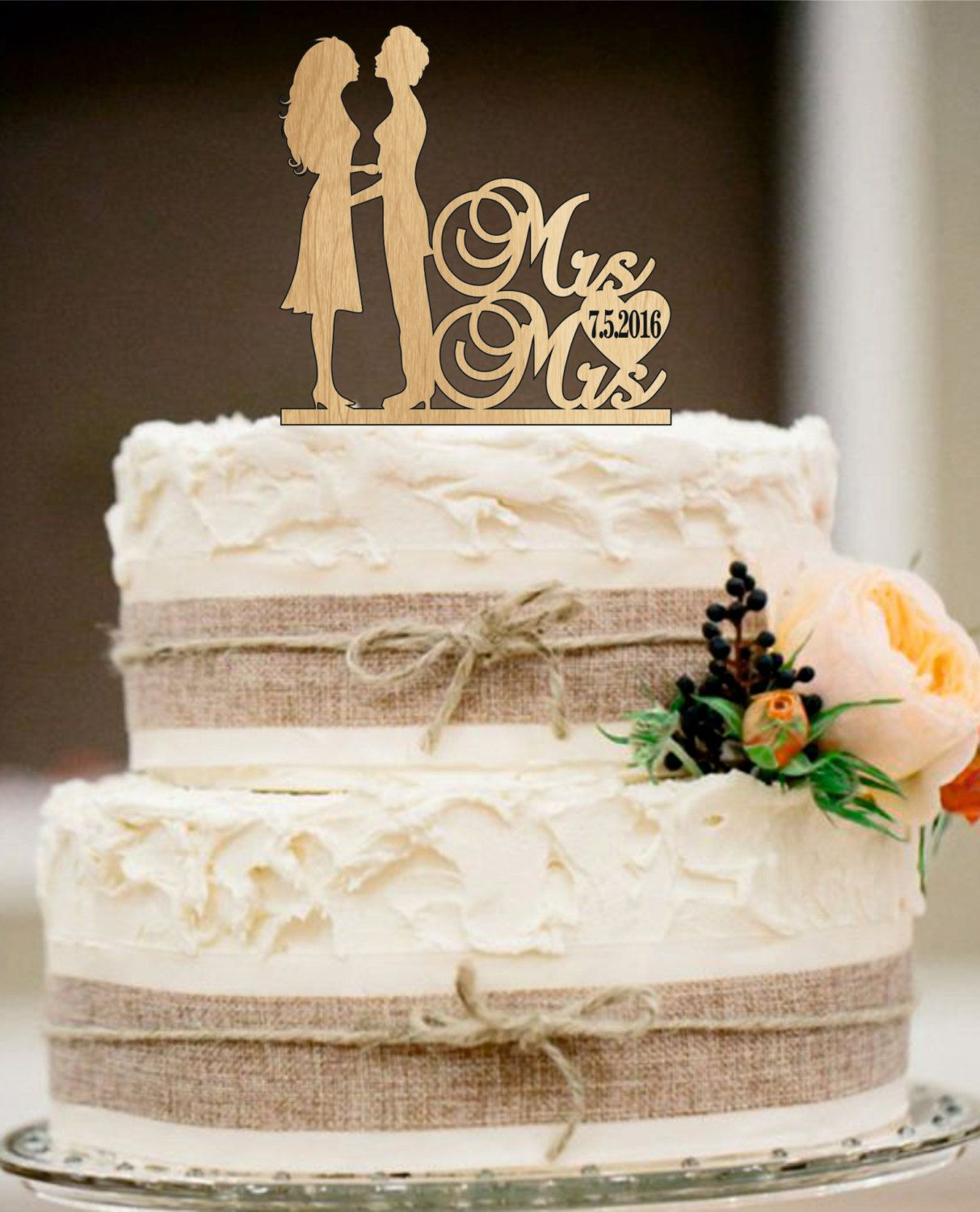 Custom Wedding Cake TopperUnique TopperRustic TopperFunny TopperPersonalized Topper By