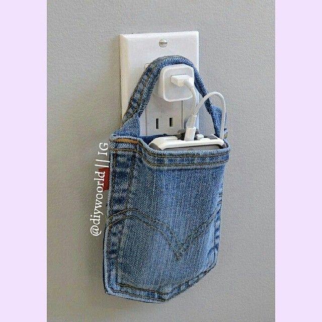 aus einer alten jeanshosentasche eine tasche f rs handy. Black Bedroom Furniture Sets. Home Design Ideas