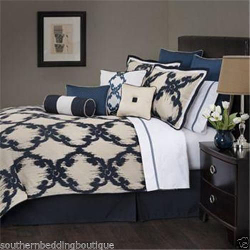 Marquis By Waterford Baltovin Queen Comforter Set Navy