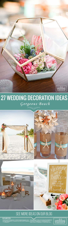 Beach wedding decoration ideas   Gorgeous Beach Wedding Decoration Ideas  Beach weddings