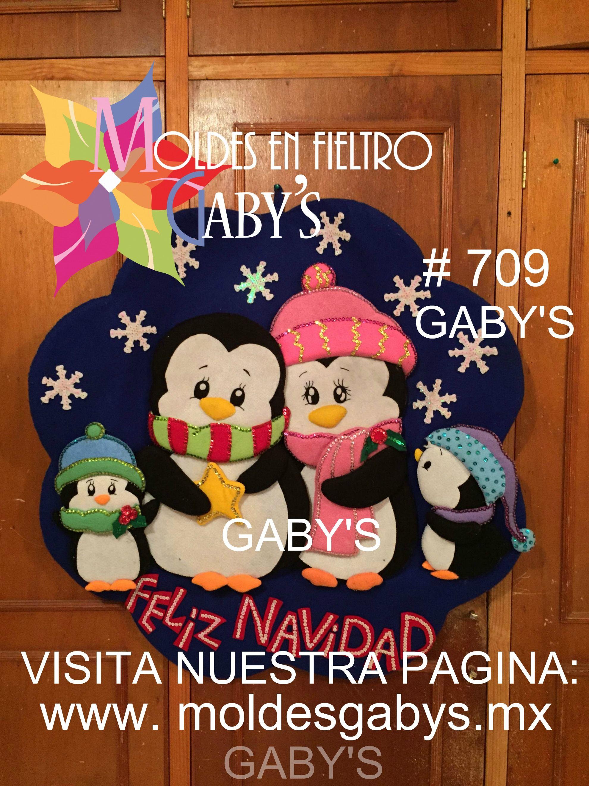 Corona de familia de pinguinos navide os pinterest for Coronas de navidad