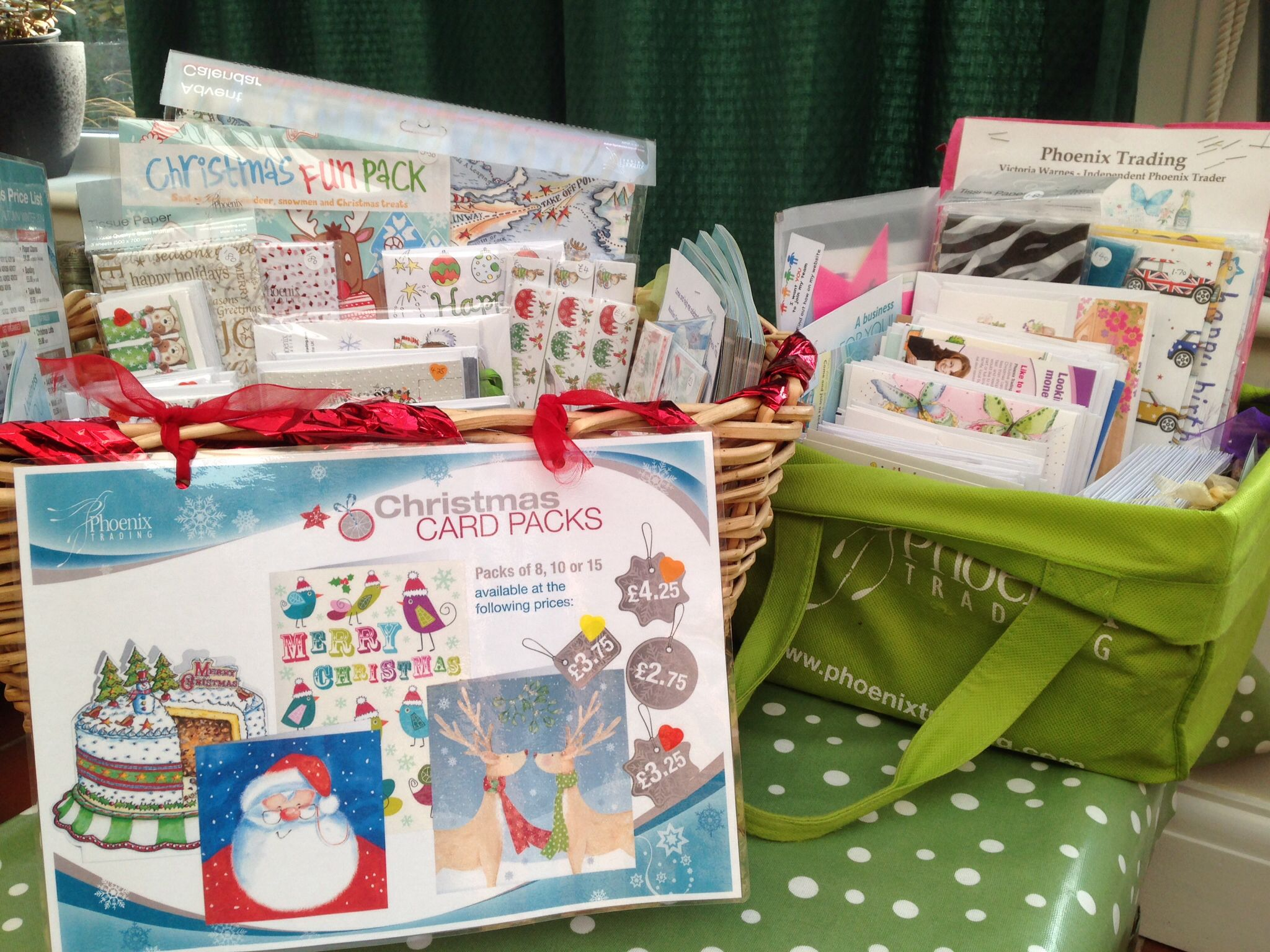 A Basket Of Charity Christmas Cards Vicscards Phoenix