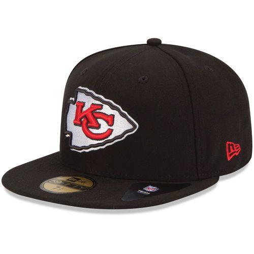74eb4df88f2 Men s Kansas City Chiefs New Era Black B-Dub 59FIFTY Fitted Hat in ...