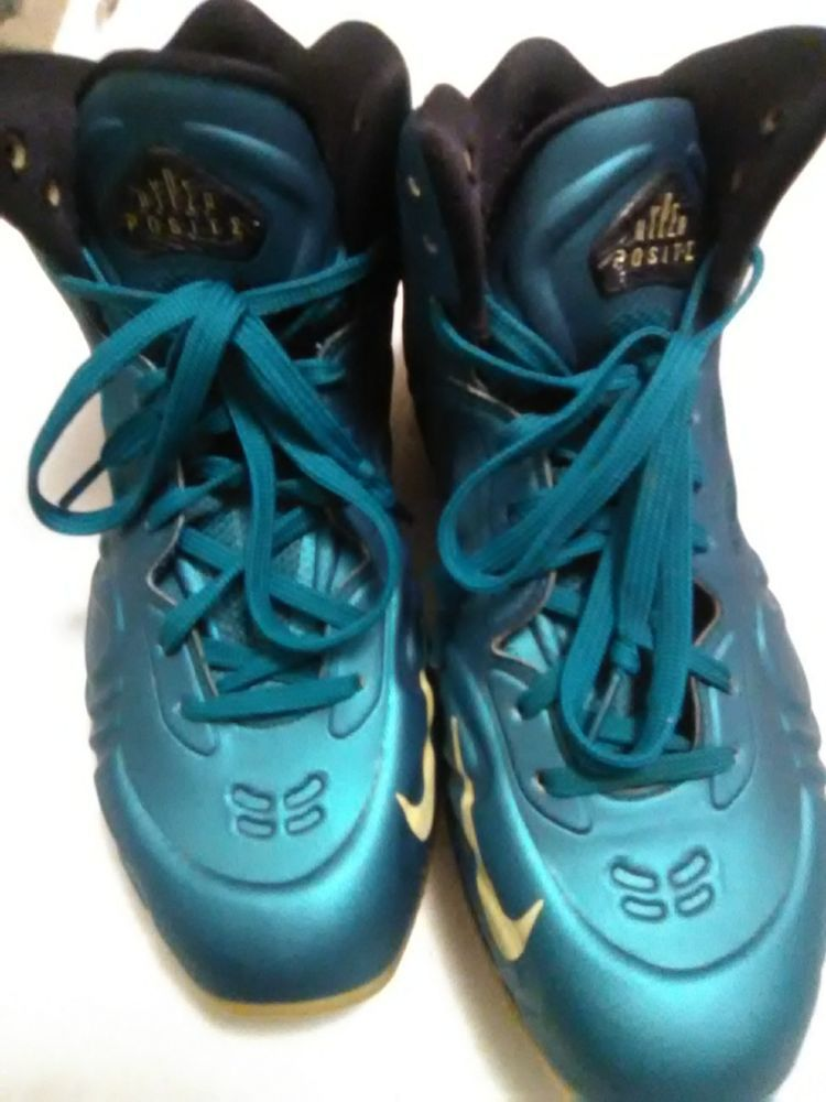 05f364cdb26 Nike Air Max Hyperposite Tropical Teal Sonic Yellow Blue sz 9.5  Nike   AthleticSneakers
