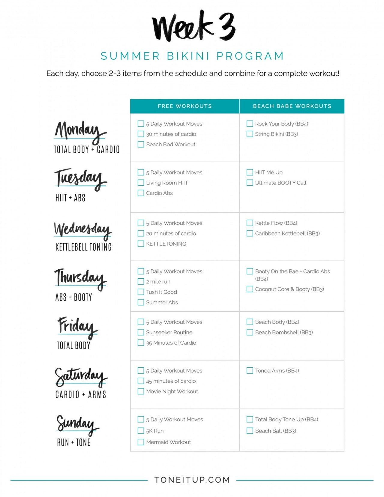 WEEKLY WORKOUT SCHEDULE | Pinterest | Workout, Exercises and Weekly ...