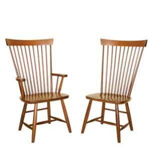 Mennonite Furniture Studios Amish Contemporary Fan Back Windsor Arm Chair