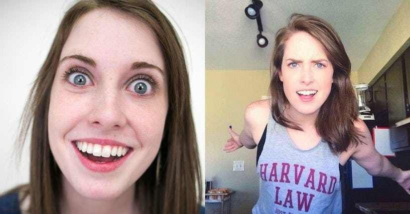 25 Stories Of The Real People Behind Memes Overly Attached Girlfriend Girlfriend Meme Memes