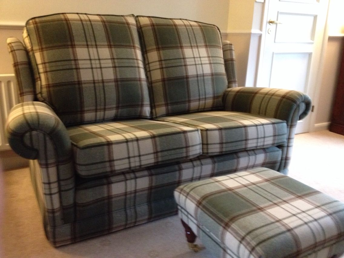 Tartan Chesterfield Sofa Dania Sale Sofas Re Upholstered In Plaid And