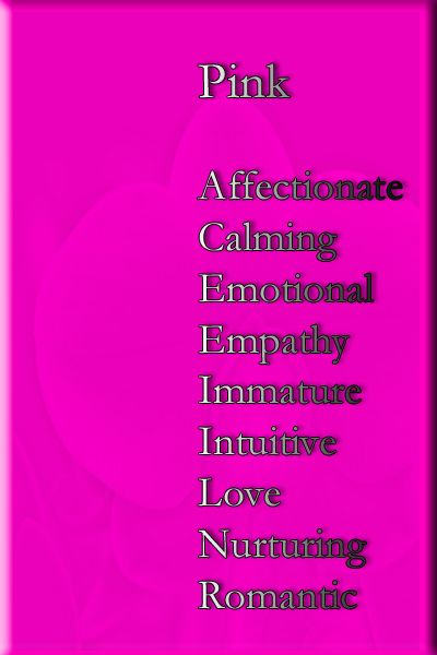 Color Pink Psychology Meaning