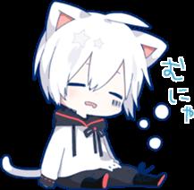 #chibi #mafumafu #neko #cat #nekoboy #catboy #anime #kawaii #white #freetoedit #sleepy  #remixit