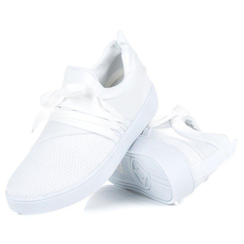428c9d13 Tenisówki #Damskie #Butymodne #Białe #Buty #Sportowe #Butymodne ...