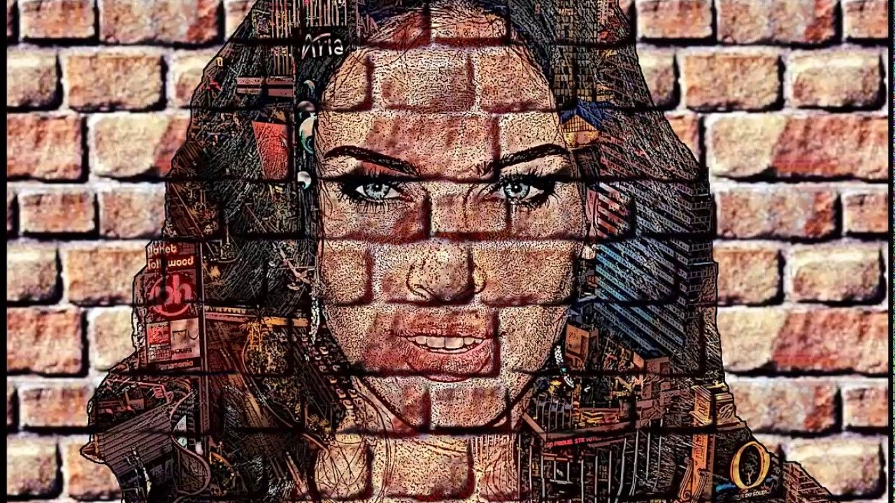 How to create brick wall portrait in gimp 2018 host