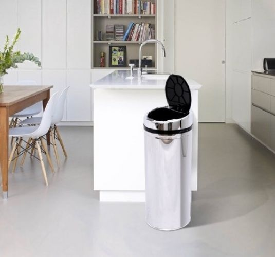 42L Automatic Bin Sensor Kitchen Waste Bin Rubbish Trashcan Auto Brilliant Kitchen Waste Bins 2018