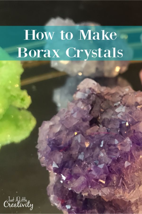 DIY Amethyst Crystals Made from Borax- Just a Little Creativity