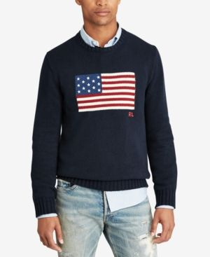 1b8ff3381 Polo Ralph Lauren Men's Flag Sweater - Navy | Products | Polo ralph ...