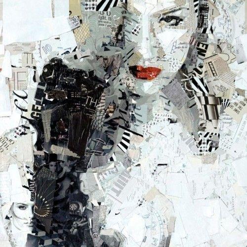 Arte da colagem reciclado 11