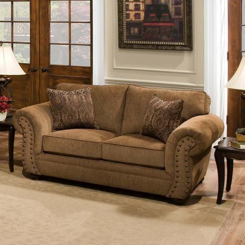 Simmons Upholstery Troy Bronze Chenille Loveseat Living