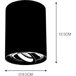 Schwenkbar 6er-Set Deckenaufbaustrahler dunkelgrau – Rondoo Up Modern Gu10 Innenbeleuchtung Qazqa