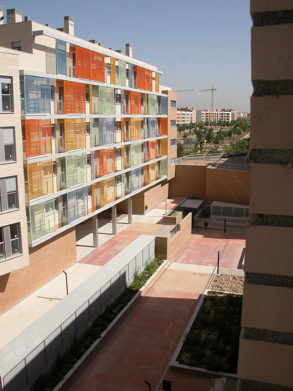 114 viviendas vpo ruiz albusac arquitectos torrej n de ardoz madrid residencial pinterest - Arquitectos interioristas madrid ...