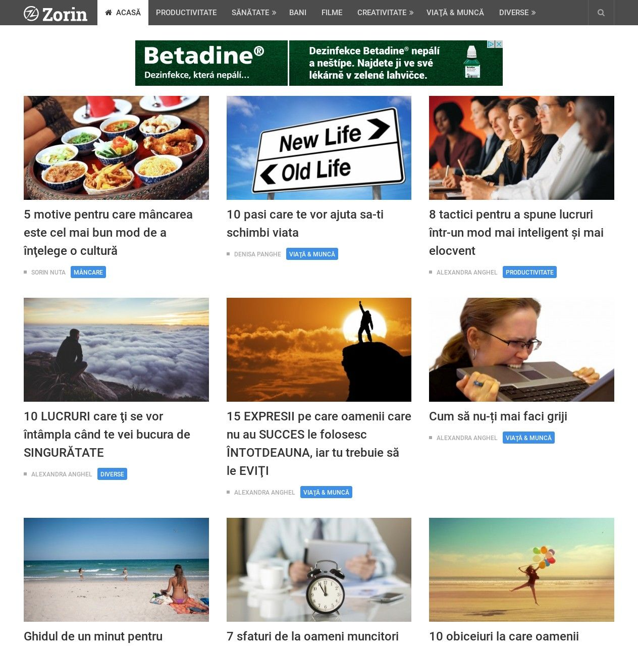 WordPress site zorin.ro uses the NewsPaper | Shared by Themes24x7 ...