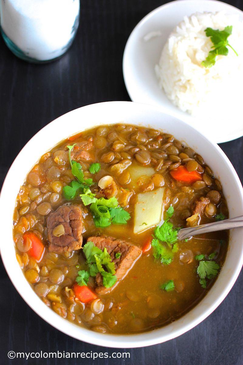 Sopa De Lentejas Con Carne Lentils And Beef Soup Recipe