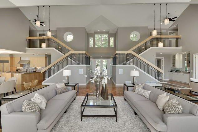 Getting The Ultimate Pinterest Dream Home Would Cost You Millions Contemporary Living Room Design House Rooms Home Interior Design