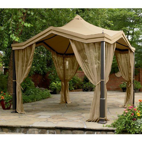 This Is A Replacement Canopy And Netting For The Peaked Top Gazebo This Canopy Is Made Of Riplock Fabric Gazebo Replacement Canopy Gazebo Replacement Canopy