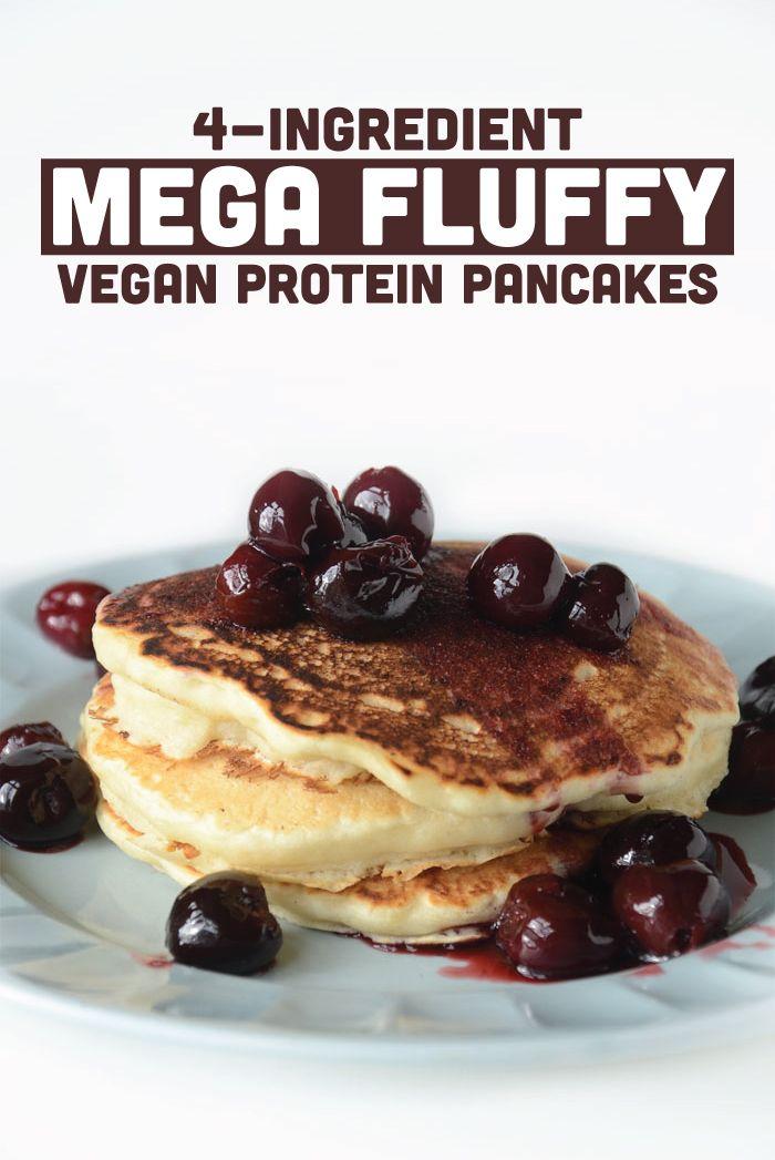 Fluffy Vegan Protein Pancakes Recipe Vegan Protein Pancakes Food Vegan Protein