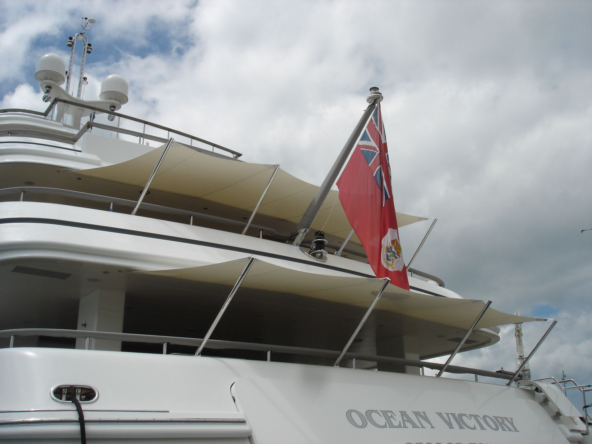 MY Ocean Victory Awnings By The Boat Cover Company Ltd Thecovercoco