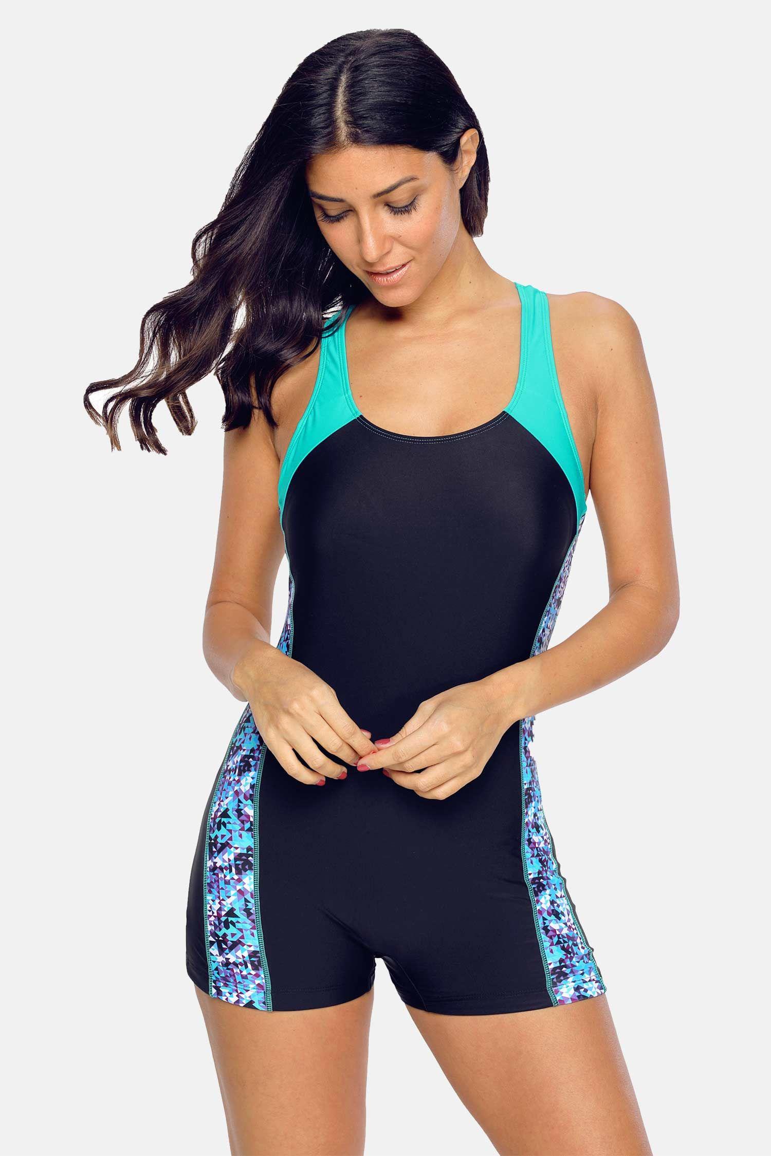 Charmo Charmo Women's One Piece Swimsuits Boyleg Sports
