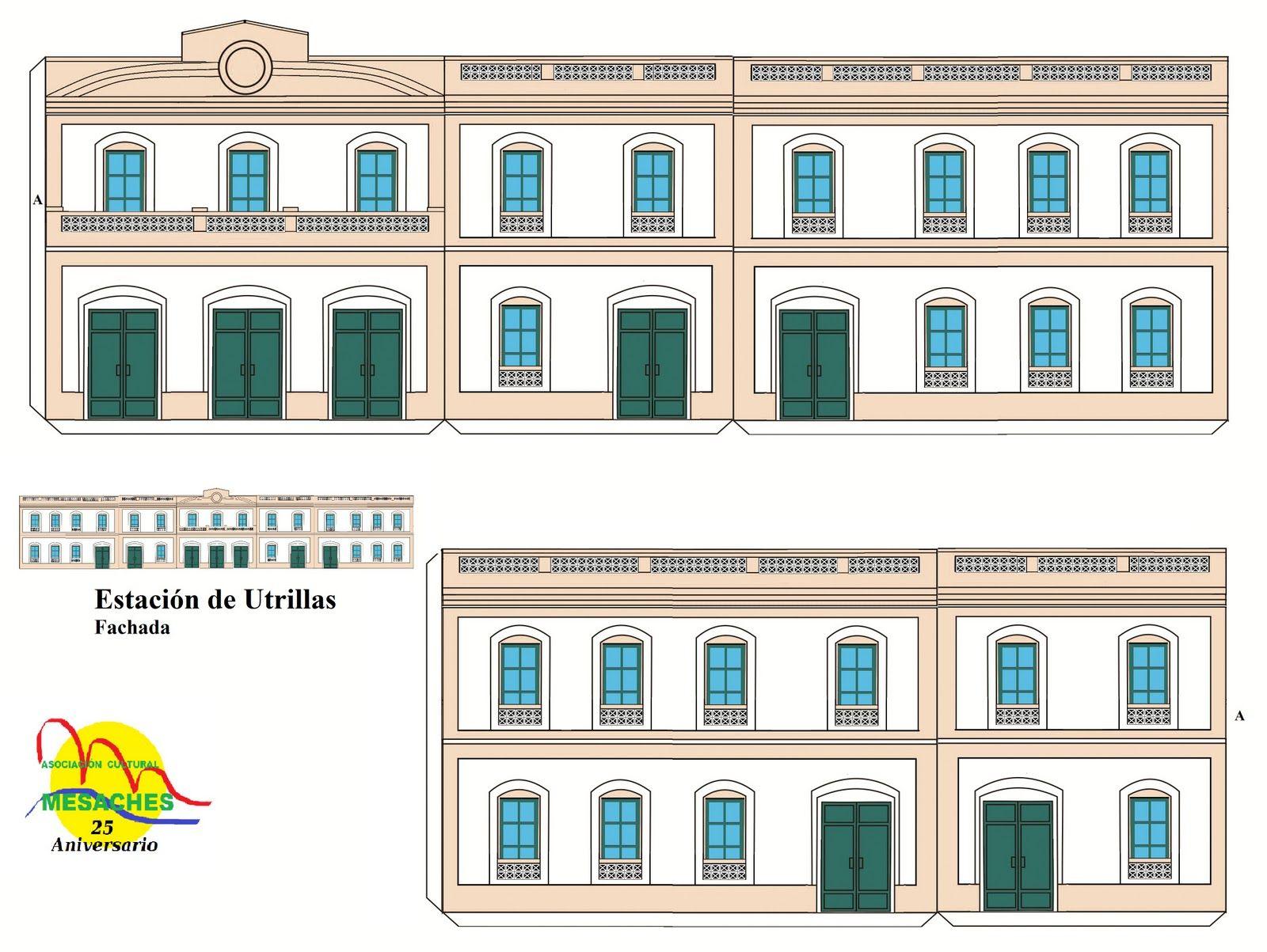 Moldes de edificios de carton para maquetas